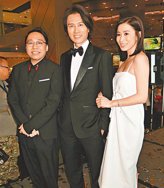 黄子华、佘诗曼、郑诗君出席《栋笃特工》首映礼。