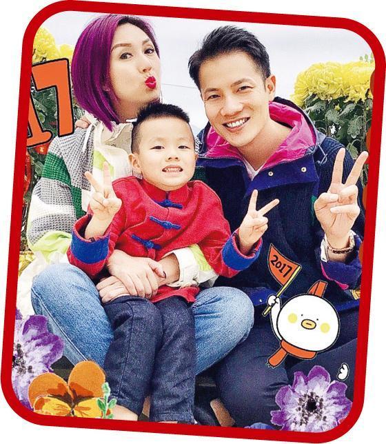 杨千嬅与老公丁子高很爱惜儿子Torres,这个三口之家美好温馨。