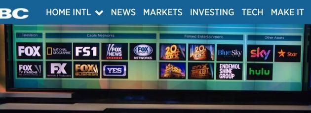 迪士尼收购21世纪福克斯公司一部分资产
