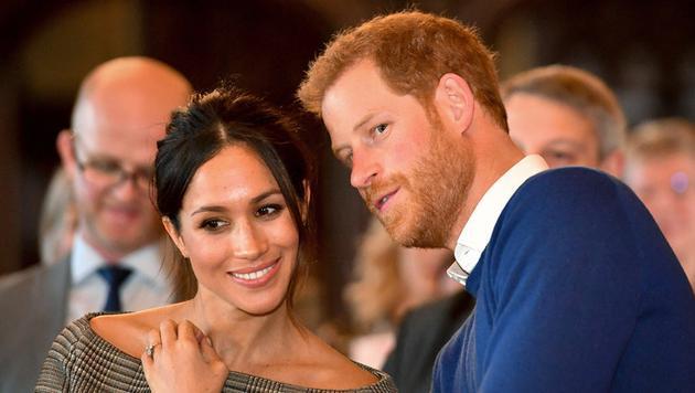 哈里王子和未婚妻梅根