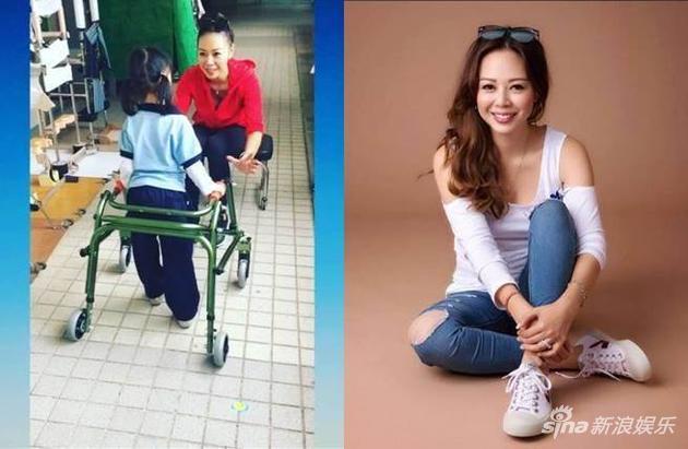 患先天性罕见疾病的6岁大女儿学会用助行器学走路