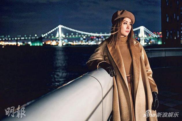3-01-陈慧琳前往东京拍摄新歌《尾站天国》MV,最难忘是在天台拍摄时要扎稳马步。