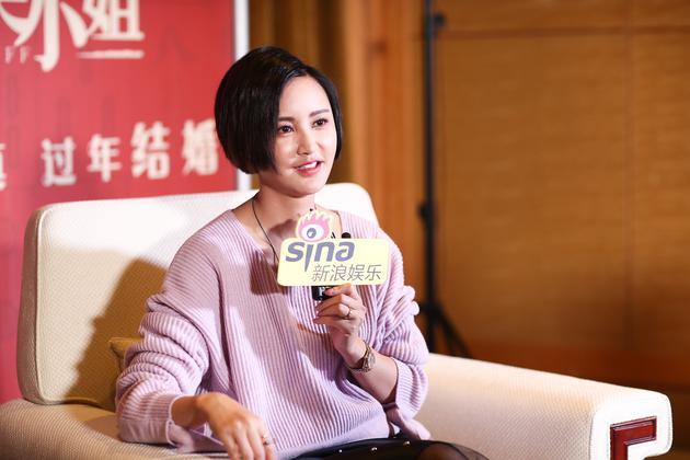 张歆艺接受新浪娱乐采访