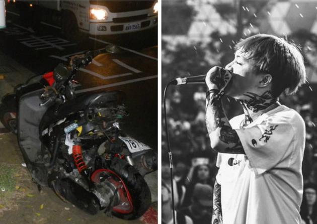 台湾摇滚乐队主唱及女友遇车祸 女方当场不治身亡