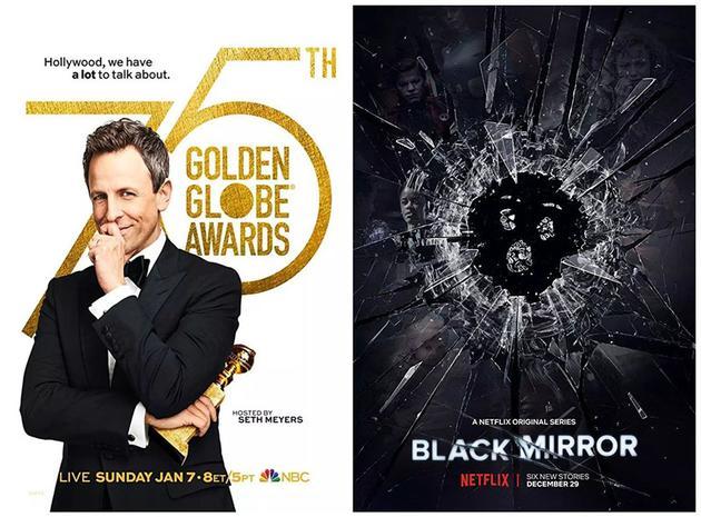 一周美剧:75届金球收视再跌 《黑镜》第四季登场