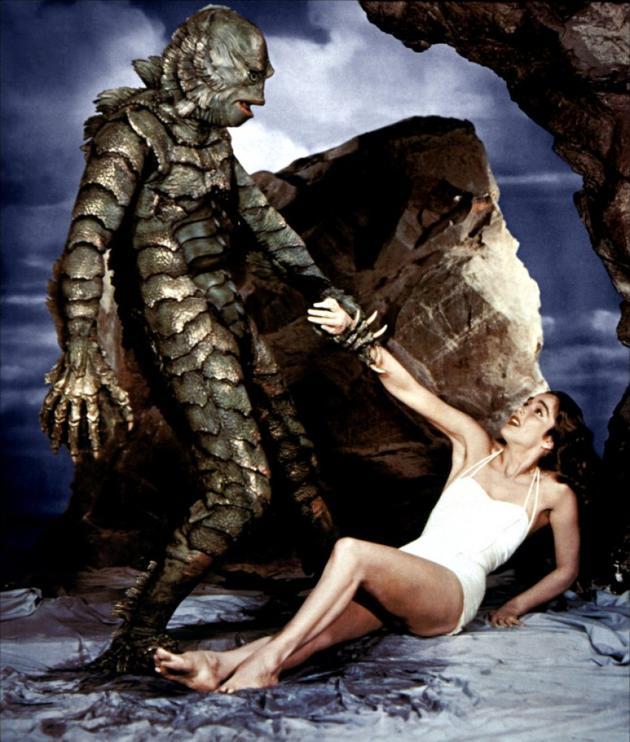 1954年电影《黑湖妖潭》剧照