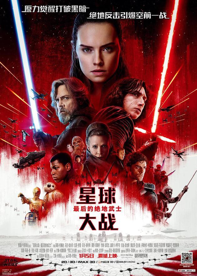 《前任3》破十气势如虹 《星战8》创系列在华最低