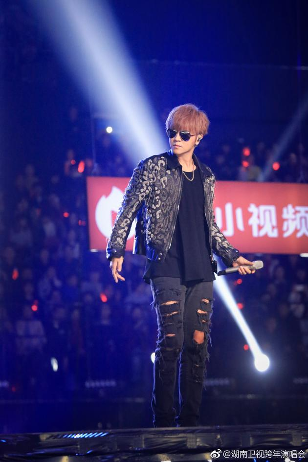 罗志祥湖南卫视跨年演唱会表演现场