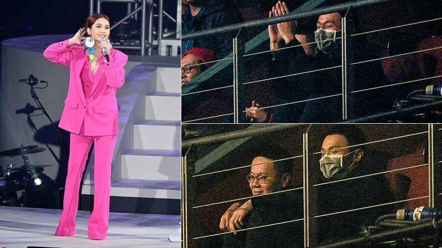 该挡眼睛吧!李荣浩现身杨丞琳演唱会为女友打CALL