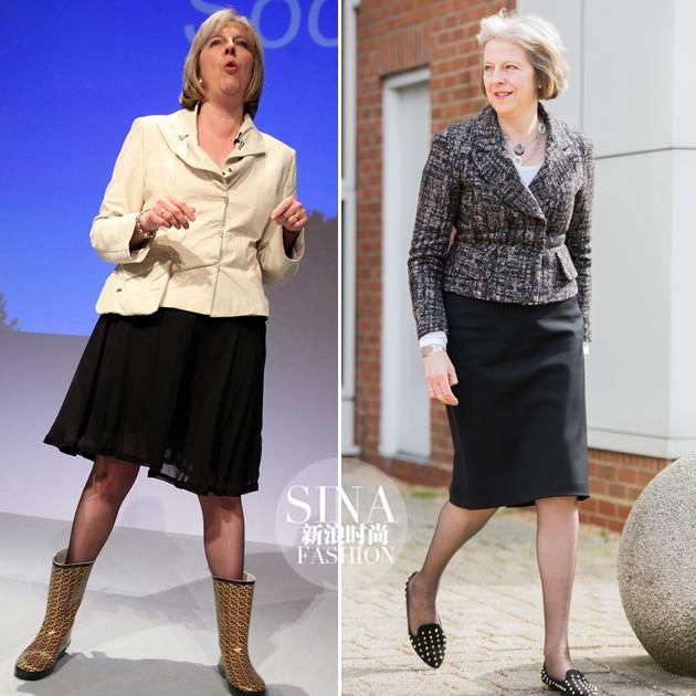 雨靴和铆钉款,梅姨也有穿