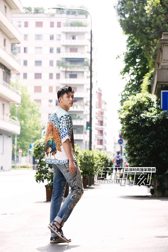 街拍时刻 像黄景瑜一样穿印花炫酷一夏