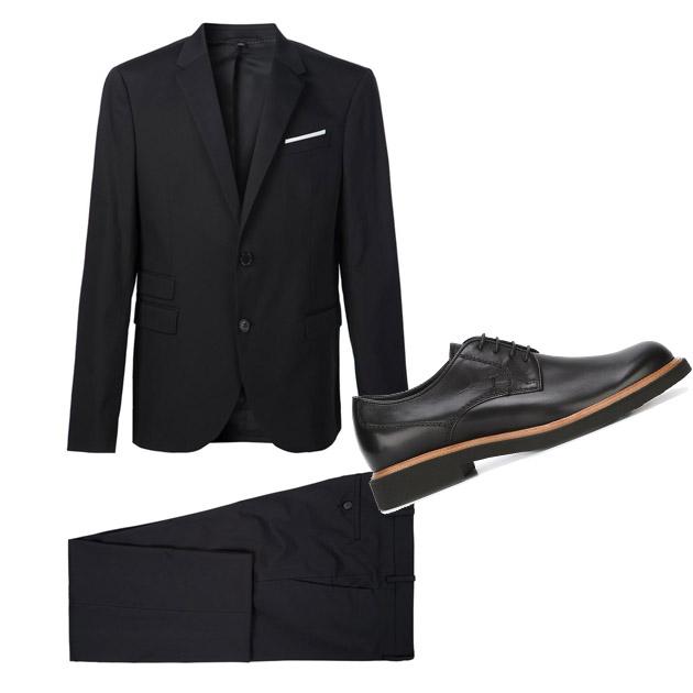 男款黑色套装单品推荐