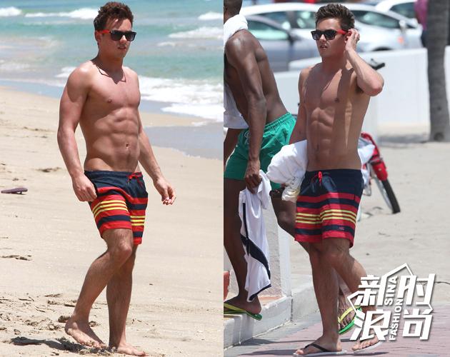低腰沙滩裤