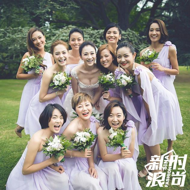李小冉和伴娘团