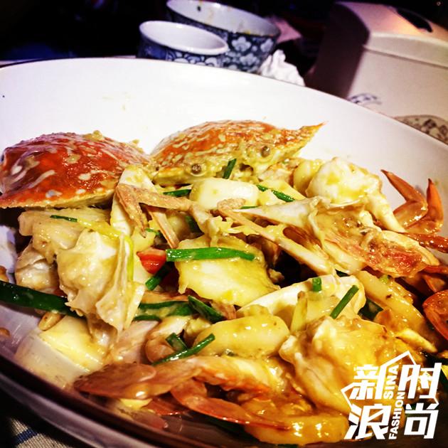 咸蛋黄蟹炒年糕