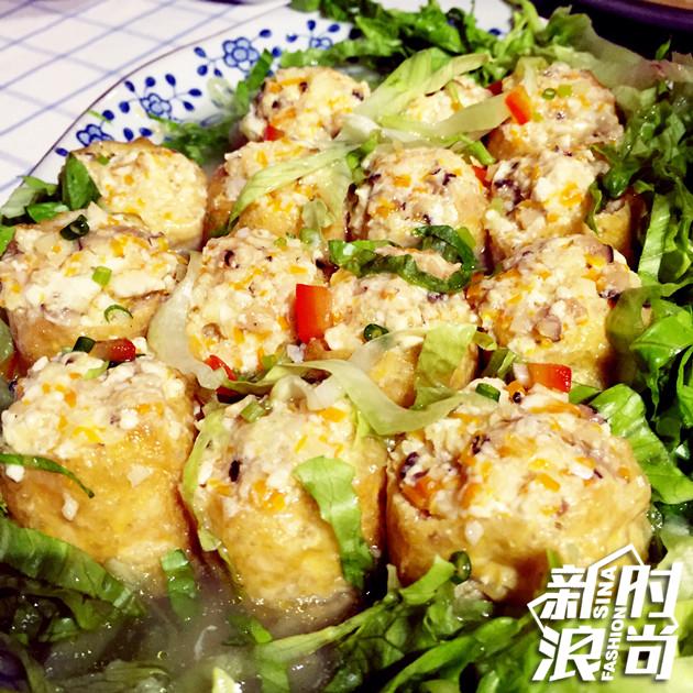 表姐亲手做的桂味酿豆腐