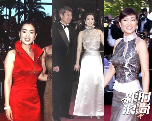 巩俐国际电影节红毯造型