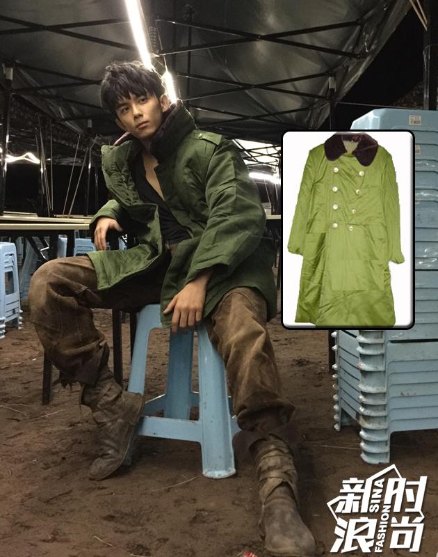 吴磊军大衣造型