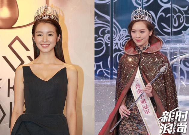 2015年港姐冠军麦明诗(左)VS2016年港姐冠军冯盈盈(右)