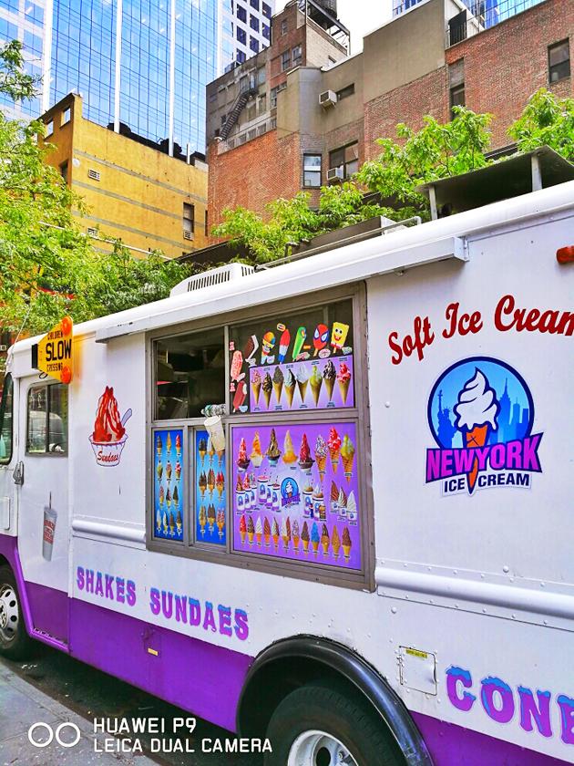 纽约街头的冰激凌车