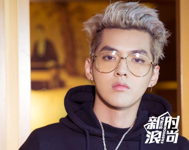 吴亦凡也在最近尝试了这种眼镜