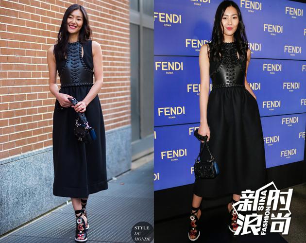 刘雯在Fendi秀场