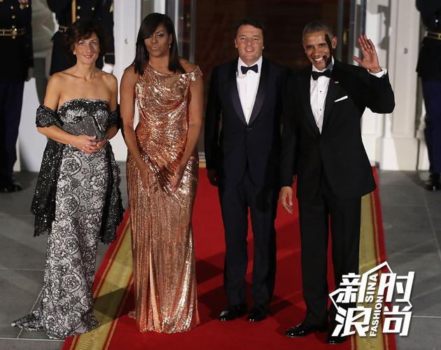 米歇尔奥巴马亮相国宴