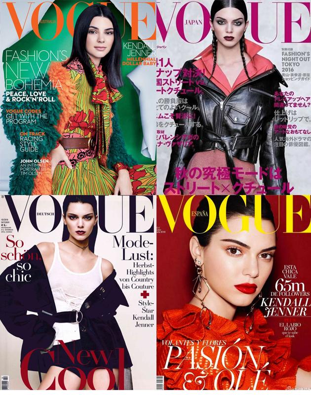金小妹同时登上四本VOGUE杂志的十月刊