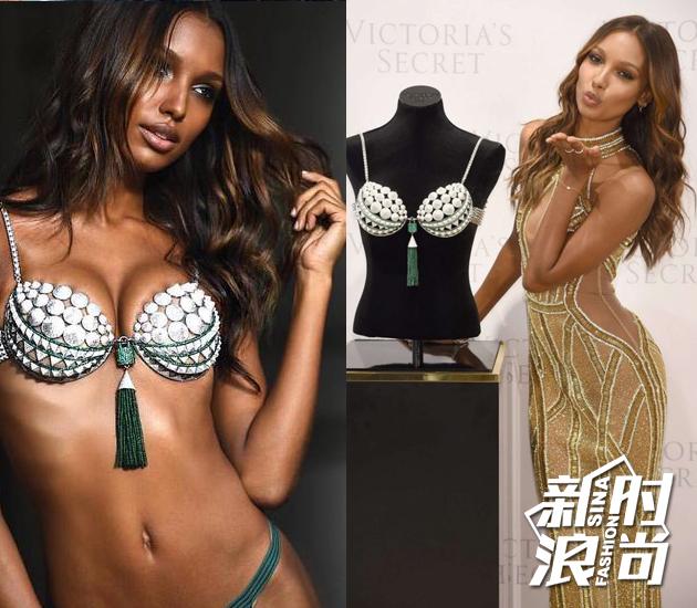 2016年身穿梦幻Bra的模特Jasmine Tookes