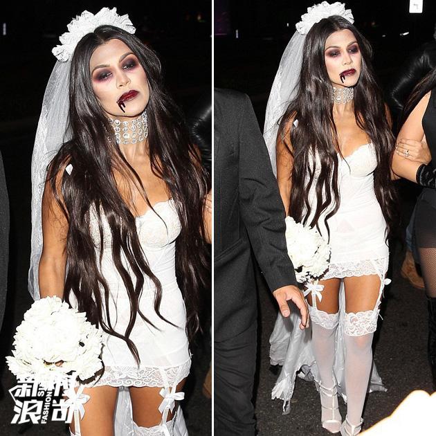 考特尼-卡戴珊扮僵尸新娘