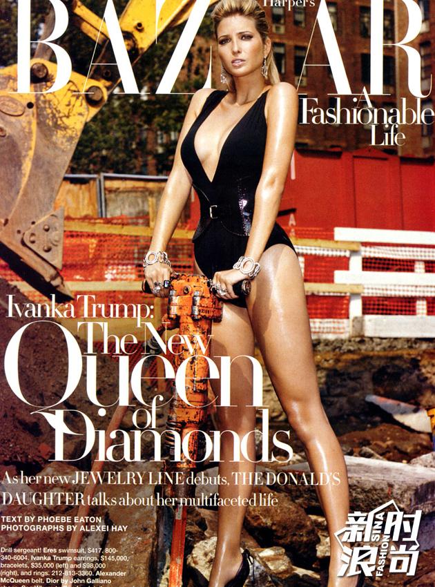 这是她登上《Harper's-Bazaar》封面的时候