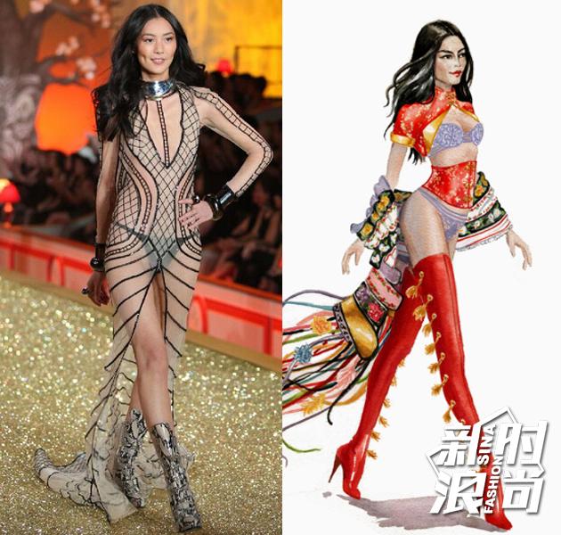 从手绘图模特的面容,粉丝猜测这套衣服十有八九会被表姐刘雯穿上