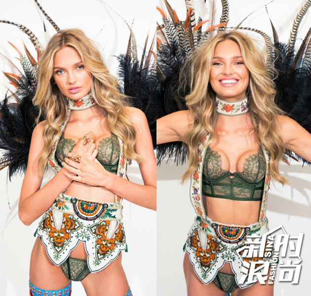 Victoria's-Secret-Fashion-Show——Mountain-Romance主题Romee-Strijd试装