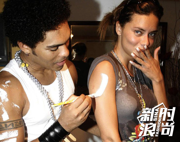 driana-Lima曾经与天才摇滚歌手Lenny-Kravitz相恋