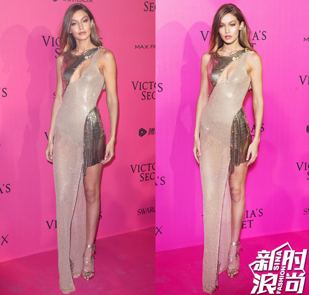 Gigi Hadid身穿Atelier Versace