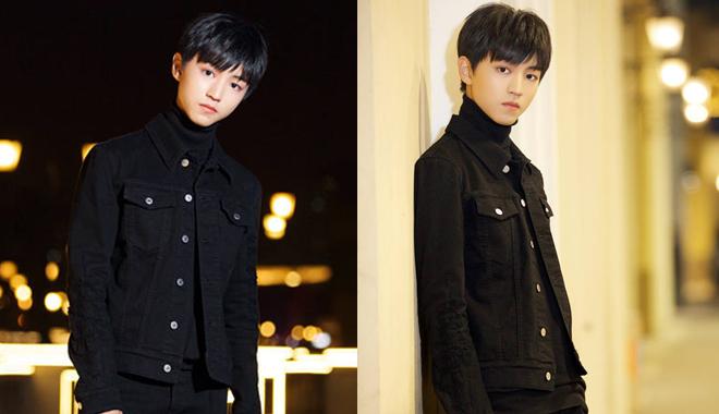街拍时刻 王俊凯清爽黑装化身暗夜少年