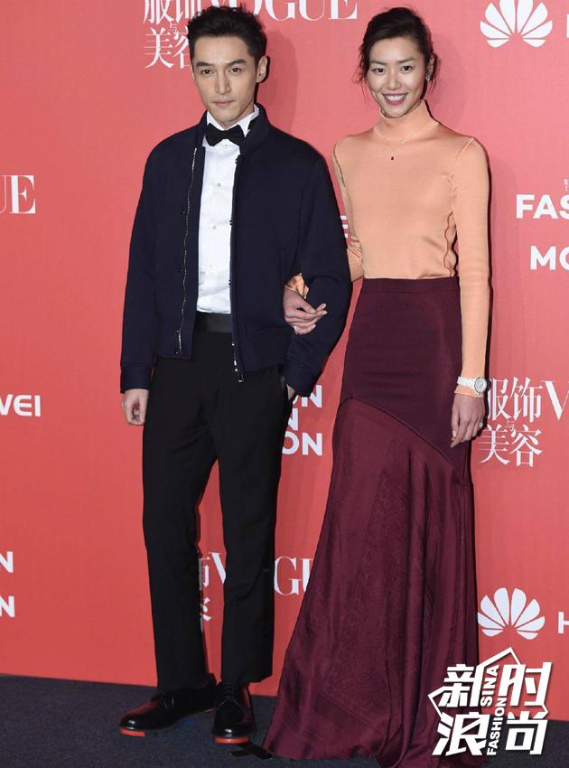 刘雯+胡歌红毯