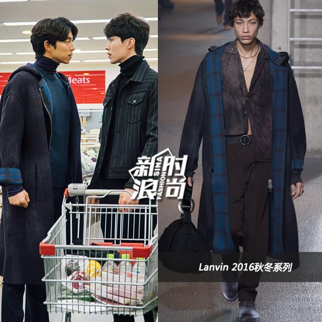 孔侑的长版大衣
