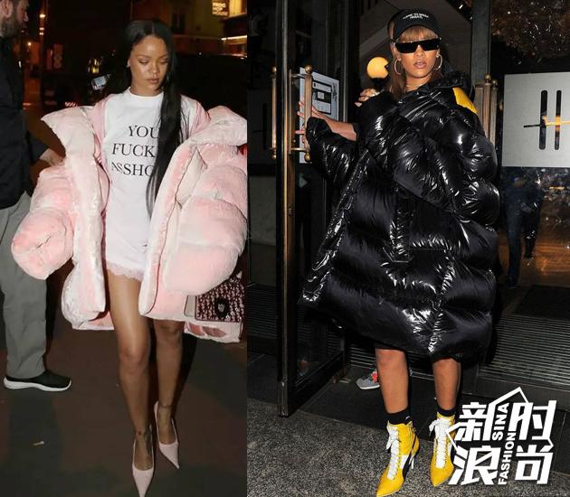 Rihanna羽绒服