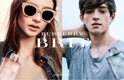 為Burberry BRIT香水拍攝廣告大片