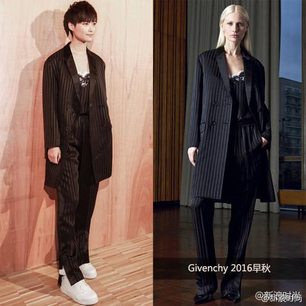李宇春亮相是Givenchy2016秋冬巴黎大秀