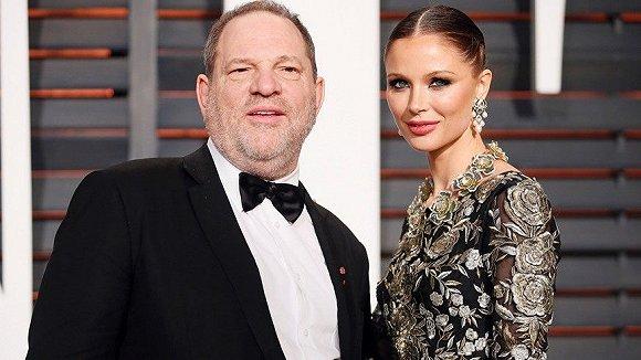 Harvey Weinstein和妻子、Marchesa创始人暨创意总监之一的Georgina Chapman