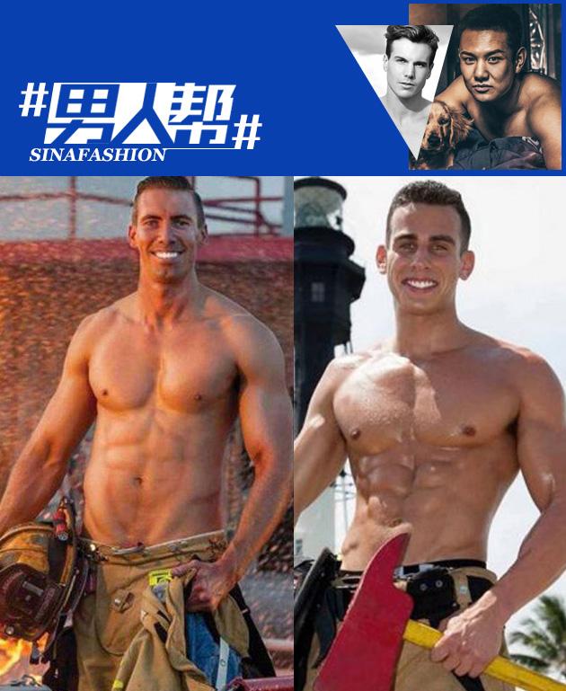 美国推出消防员年历写真2