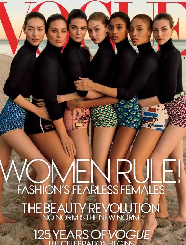 美国版《Vogue》125周年刊3月号