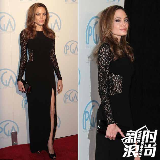朱莉穿蕾丝透视长裙