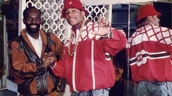 1980年代,Dapper Dan在美国流行(左为Dapper Dan)