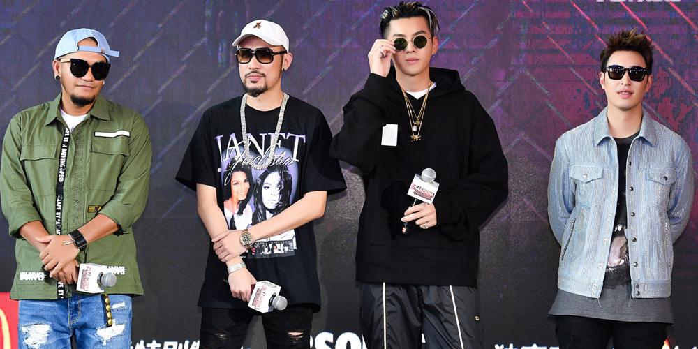 吴亦凡、张震岳、潘玮柏亮相《中国有嘻哈》