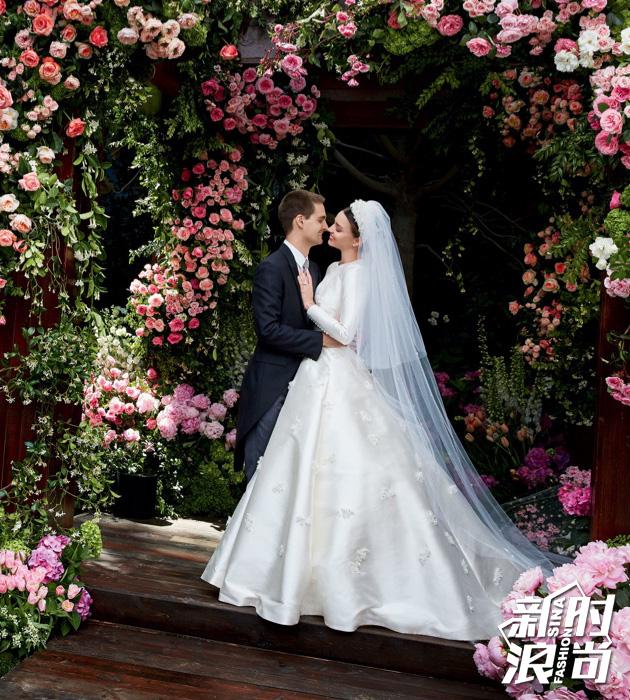 米兰达可儿的婚纱