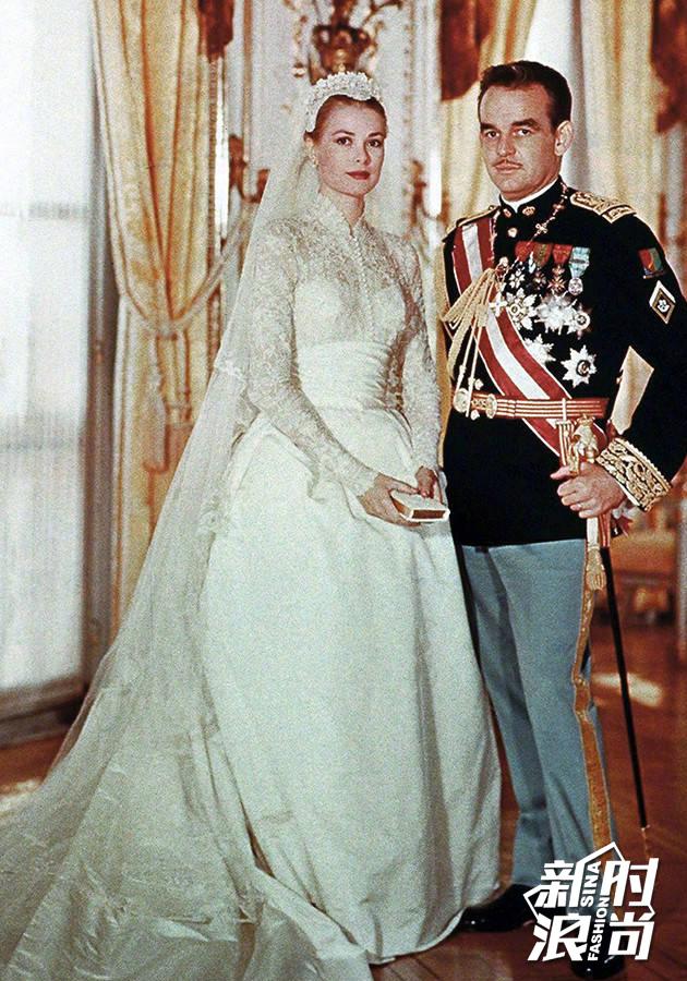 格蕾丝·凯利Grace-Kelly,1956年嫁给摩纳哥亲王举办的世纪婚礼所穿的婚纱