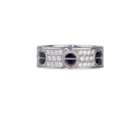 卡地亚Love戒指,铺镶钻石,精密陶瓷